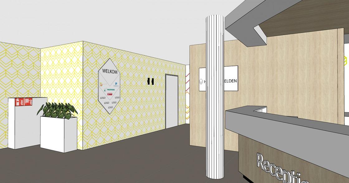 project afbeelding vanInterieurontwerp Entreegebied verzamelgebouw